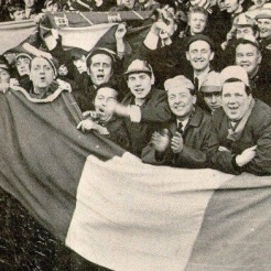 Celtic fans 1960s big tricolour