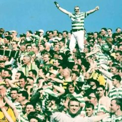 Celtic fans away terrace 1998
