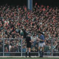 Celtic fans red cards at hunnery