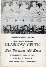 Celtic v San Francisco all stars 1957