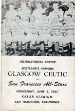 Celtic v San Francisco all stars 1957