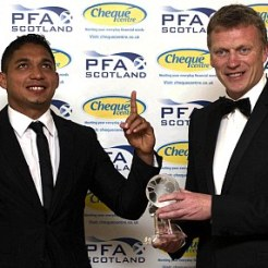Emilio Izaguerri and David Moyes player of the year