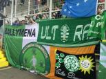 Fans and banners in the ground