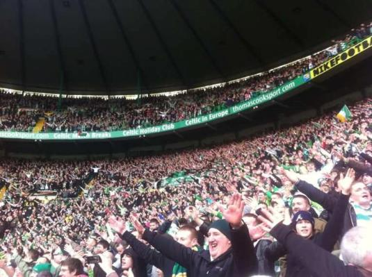 Fans doing the Broony