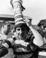 George McCluskey and hat, Hampden and crucifix