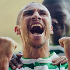 Henrik up close celebrating