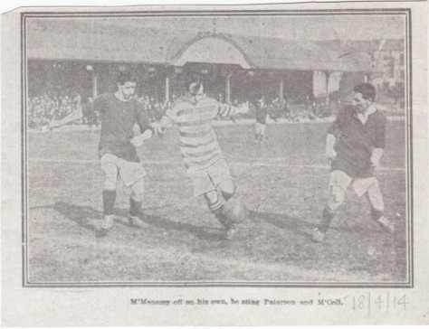 Jimmy McMenemy v Hibs 1914