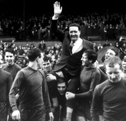 Jock held aloft by Lions