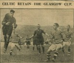 John Thomson Celtic win the Glasgow Cup great action photo