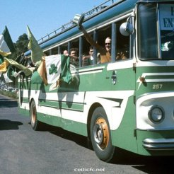 Lisbon fans in the bus