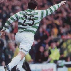 Lubo celebrates arm raised