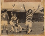 Roy Aitken scores in 4 2 game press pic
