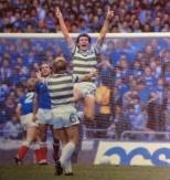 Roy Aitken The Bear celebrates v Rangers