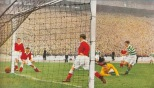 Sean Fallon goal v Aberdeen Cup final 54 painting