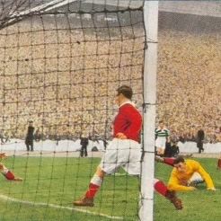 Sean Fallon goal v Aberdeen Cup final 54 painting