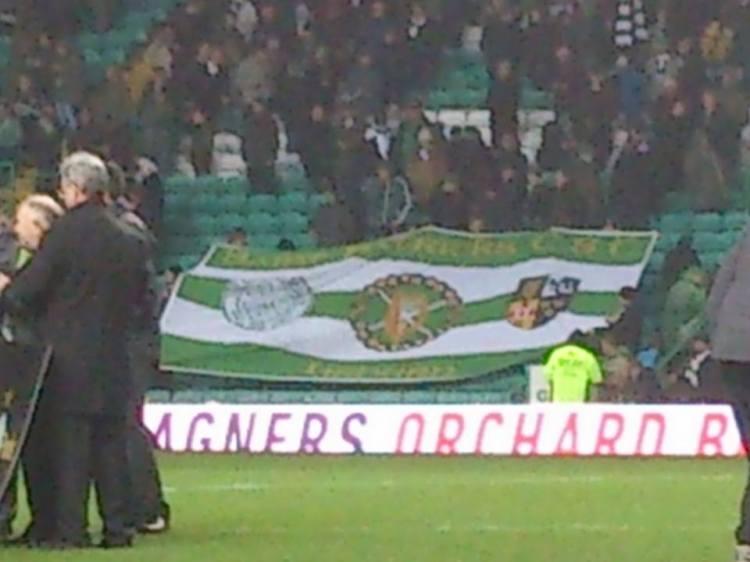 St Patricks CSC Lisburn banner at Celtic Park