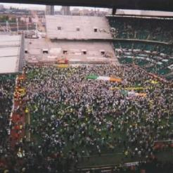 Stopping the Ten fans on the park from top of Lisbon Lions Stand