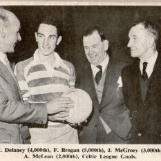 Thousand goalscorers Delaney, Brogan, McGrory and McLean