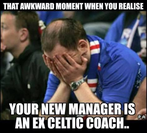 Awkward moment  Celtic coach
