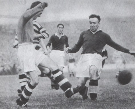Boycott game Willie Miller saves from Williamson Sept 1949