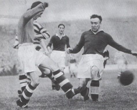 Boycott game Willie Miller saves from Williamson Sept 1949