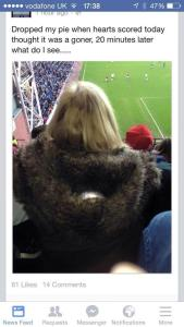 Hearts fan missing pie