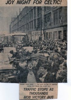 1965 Gorbals Celtic cup winning team bus