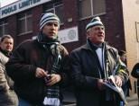 2 fans outside Celtic pools
