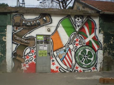 AC Bilbao and Celtic mural