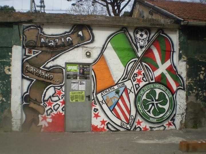 AC Bilbao and Celtic mural