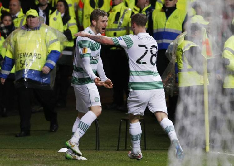 Armstrong and Griffiths celebrate