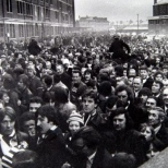 Boxing Day 1976 outside Main Stand