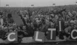 C L T I C boards held up by fans
