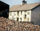 Celtic End, Janefield St old tenements watching game