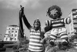 Celtic fan and giant teddy bear