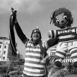 Celtic fan and giant teddy bear