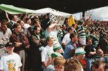 Celtic fans at Firhill 1990ish