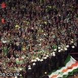 Celtic fans at Hamburg 1996