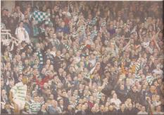 Celtic fans at Tony Adams testimonial