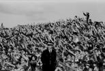 Celtic fans Dens Park Dundee 1983 hands up