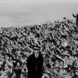 Celtic fans Dens Park Dundee 1983 hands up