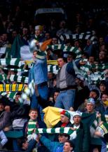Celtic fans in Jungle 1980s with ski hats