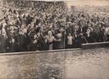 Celtic fans in the rain 1965