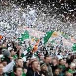 Celtic fans paper storm