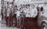 Celtic fans prepare to leave Gallowgate to Madrid 1980