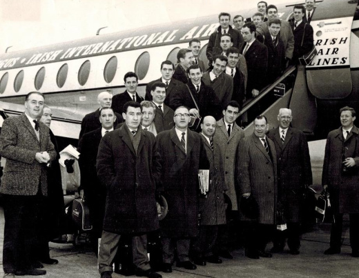 Celtic team plane to Budapest 1964