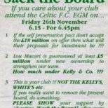 Celts for Change poster