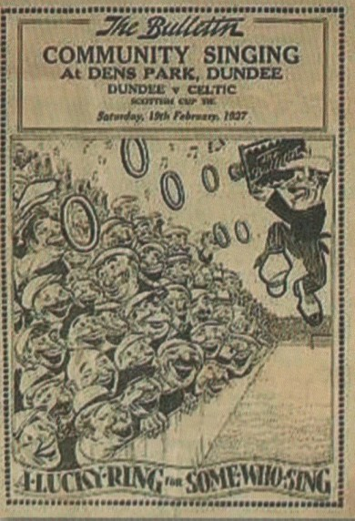Community singing at Dens Park 1927