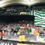 European away late 90s early 00s Huge hoops O'Leary's banner