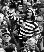 Fan in hoops and tammy on shoulders early 1970s